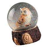 TOYANDONA Nordische Eule Kristallkugel Weihnachten Schneekugel Spieluhr Kristallkugel Spielzeug Eule Figur Ornament Weihnachten Tischdekoration für Weihnachten zu Hause Schlafzimmer Liefert