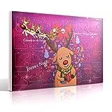 MJARTORIA Schmuck Adventskalender 2021 Weihnachtskalender Damen Kinder Mädchen Adventszeit mit 24 Überraschungen Kette Charms Anhänger Weihnachten Geschenk Lila Elche