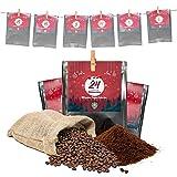 Premium Kaffee Adventskalender 2021 - Mit Liebe geröstet von Menschen mit Behinderung | Kaffee Geschenk für Männer und Frauen | fair | 24 x 30 g Kaffee gemahlen im Weihnachtskalender