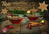 Tee-Adventskalender für Zwei 2022 - Teekalender - Adventskalender - Teesorten - Genusskalender - Advent-für-Zwei - 55,5 x 39 x 2 cm