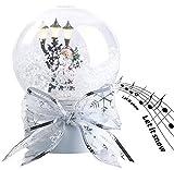 infactory Schneekugel mit Musik: Schneekugel mit singendem Weihnachtsmann, berührungsaktiv, LED-Laterne (Schneekugeln)