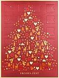 Lauenstein Confiserie Adventskalender Weihnachtsbaum rot 12-fach sortiert, 1er Pack (1 x 300 g)