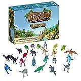 Adventskalender 2021, Dinosaurier Spielzeug Weihnachtsadventskalender für Kinder, 24 Stück Dinosaurier Modell Spielzeug Realistische Tierfigur Spielzeug Weihnachten Countdown Überraschungsgeschenk