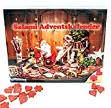 Salami Adventskalender 2021 - 24 Mini Wurst Sterne und Herzen - 40,8 g