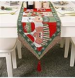EXQULEG Weihnachten Tischläufer Kreative Weihnachtstischläufer, Rot Weihnachten Tischdecke Tischwäsche Dekoration für Tisch Esstische (Stil A)