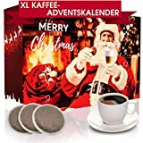 C&T XXL Adventskalender mit hochwertigem Kaffee 'Klassik I' (Rot, Kaffeepads) 2020 - 24 Senseo®-Kompatible Kaffeepads - Kaffee aus Aller Welt - Weihnachts-Kalender mit kostenloser Infobroschüre