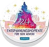 24 Entspannungsmomente für den Advent: Adventskalender in dekorativer Dose, mit 24 Anti-Stress-Kärtchen