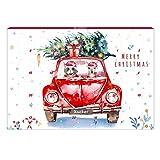 Xucker Edelbitter-Adventskalender, Kalender für den Tisch, Weihnachten mit Xylit-Schokolade ohne Zuckerzusatz, 65 g