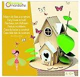 Avenue Mandarine - Kreativ-Set Feenhaus zum Aufbauen - ab 7 Jahren- Kit kreative Manuelle Tätigkeiten Basteln, Collagen und Malerei- Haus zum Zusammenbauen 25x22x28cm- Märchenhafte Dekoration - CO174C