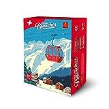 Frey Branches Adventskalender - Weihnachtskalender mit 24 assortierten Schokoladen-Riegeln mit Haselnusscremefüllung - Schweizer Schokolade - UTZ - Schokoladengeschenk zu Weihnachten Adventszeit