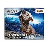 CRAZE Adventskalender DINOREX Dinosaurier Weihnachtskalender 2021 für Kinder Spielzeugkalender Dino Spielfiguren 24 Überraschungen 33401