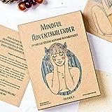 VEGAN BOX® Adventskalender Mindful | Set Aus Journal, Kuli & 24 Karten Mit Achtsamkeit-Impulsen | Adventskalender 2021 Für Entspannung & Selbstliebe