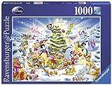 Ravensburger Puzzle 19287 - Disney's Weihnachten - 1000 Teile Puzzle für Erwachsene und Kinder ab 14 Jahren, Disney Weihnachtspuzzle