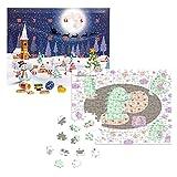 fotopuzzle.de Puzzle-Adventskalender in der Dino-Edition | 200 Teile | mit Lindt-Schokolade befüllt