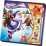 Milka Weihnachts-Freunde Adventskalender 1 x 143g, Süßigkeiten-Mix, Zwei zufällig ausgewählte Designs