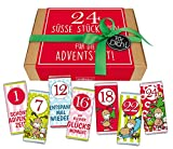 STEINBECK Adventskalender Geschenkbox Mini Schokolade 24 Stück Nikolaus 24er Set Mitgebsel Wichtel Zahlen 1-24 zum Befüllen