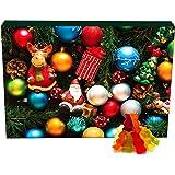 Hallingers 24 Gummibärchen-Adventskalender mit Fruchtsaftbärchen (500g) - Christbaumschmuck (Advents-Karton) - zu Weihnachten Adventskalender