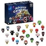 BSTCAR 2021 Adventskalender, Weihnachts-Countdown-Spielzeug inklusive Gummi-Schlamm-Spielzeug Mollusk Avengers Figuren Dinosaurier Ozean Tiere Autos, 24 Tage Countdown-Geschenke für Kinder
