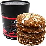 Hallingers 5 handgemachte Elisen-Lebkuchen in edler Papierdose (400g) - Weiß Glasiert (Naschdose) - zu Weihnachten