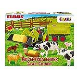 CRAZE Adventskalender CLAAS Maschinen Kinder Weihnachtskalender 2021 Spielzeug Bauernhof Figuren Traktor Kalender Junge 19597