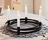 """4er Kerzenhalter """"Modern"""" aus Metall, runder, Schlichter Advent-Kernzenständer, Adventskranz"""