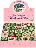 Teekalender - Einladung zum Weihnachtstee: Schachtel mit 25 Tee-Würfelboxen
