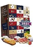 Adventskalender 2021 mit Konfitüren und Marmeladen I 24 Fruchtaufstriche in der Adventszeit I Probierpackungen im Konfitüren Adventskalender