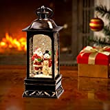 Heasylife Weihnachts Schneekugel, Weihnachtsmann Glitter Water Church Laterne Weihnachtsdekoration…