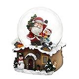 Dekohelden24 Schneekugel mit Weihnachtsmann, Maße L/B/H: 7 x 7 x 9 cm Kugel Ø 6,5 cm., 501473-SM