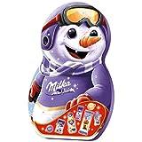 Milka Snow Mix Adventskalender 1 x 236g, Mix aus 7 Milka Leckereien, Im Schneemann-Design