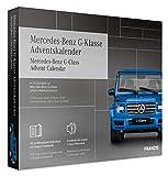 FRANZIS 67121 - Mercedes-Benz G-Klasse Adventskalender 2020 – in 24 Schritten zur Mercedes unterm Weihnachtsbaum, Bausatz für das detailgetreue Modell im Maßstab 1:43, empfohlen ab 14 Jahren