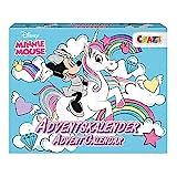 CRAZE Adventskalender Minnie Mouse Kinder Weihnachtskalender für Mädchen Spielzeugkalender 2021 Mini Maus Haarschmuck Kinderschmuck Schlüsselhänger 24669
