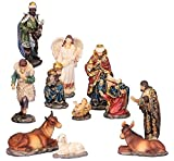 Unbekannt Krippenfiguren 11teiliges Set 14,5 cm Krippe Weihnachten