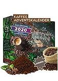 Adventskalender 2020 Kaffee gemahlene Bohnen I Kaffee Adventskalender mit 24 erlesenen Kaffee Sorten aus aller Welt als Probierset 480g feinster Kaffee