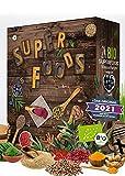 BIO Superfood Adventskalender 2021 I gesund durch die Adventszeit I Superfoods testen I 24 leckere Überraschungen I gesunder Adventskalender I vegan (Superfood)