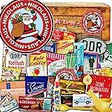 Nikolaus   Advent Kalender DDR  Ostalgie Box   DDR Waren in 24 Türchen   weihnachtlich verpackt mit Ostmotiven