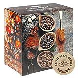 Corasol Flavoured Coffee Kaffee-Adventskalender 2020 mit 24 aromatisierten Kaffee-Kreationen, ganze Bohnen für Genießer (240 g)