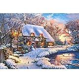 Castorland CSB53278 B-53278-Winter Cottage Puzzle 500 Teile, Bunt