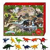 Weihnachts Adventskalender Spielzeug,Adventskalender 2020,Adventskalender Dino Dinosaurier Jungen Kinder 24 Überraschung Weihnachtskalender Geschenk
