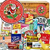 Frohe Weihnachten Santa   DDR Adventskalender   DDR Produkte   DDR Artikel in 24 Türchen   weihnachtlich verpackt mit Ostmotiven