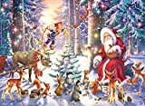Ravensburger Kinderpuzzle - 12937 Waldweihnacht - Weihnachtspuzzle für Kinder ab 6 Jahren, mit 100 Teilen im XXL-Format