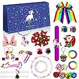 Devis Adventskalender Weihnachten, 2021 Countdown Kalender, Armband, Halskette, Haarschmuck, Schlüsselanhänger, Kinder Mädchen Frauen