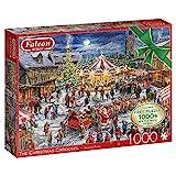 Jumbo 11308 The Christmas Carousel-2x 1000 Teile Puzzlespiel, Mehrfarben