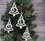 Weihnachtsornament Christbaum Deko Anhänger Tannenbaum personalisiert mit Wunsch Buchstaben für Ihrem Namen