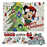 Undercover MINE8024 Adventskalender für Mädchen mit 24 Schreibwaren Überraschungen, Zauberhaftes Disney Minnie Mouse Motiv, ca. 45 x 32 x 3 cm