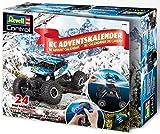 Revell 1026 Adventskalender RC Crawler, mit Fernsteuerung und Batterien in 24 Tagen zum selbstgebauten, ferngesteuerten Auto, Blau