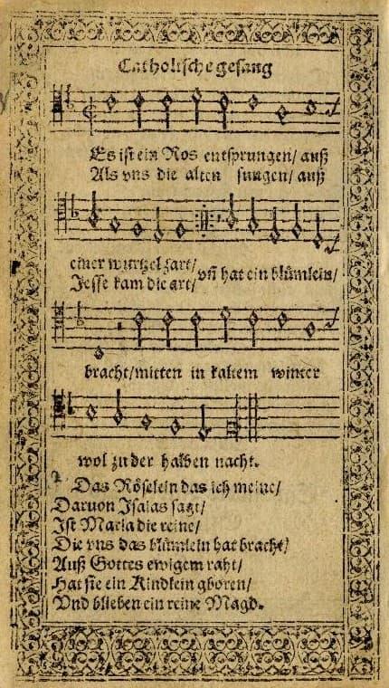 Speyerer Gesangbuch - Es ist ein Ros entsprungen
