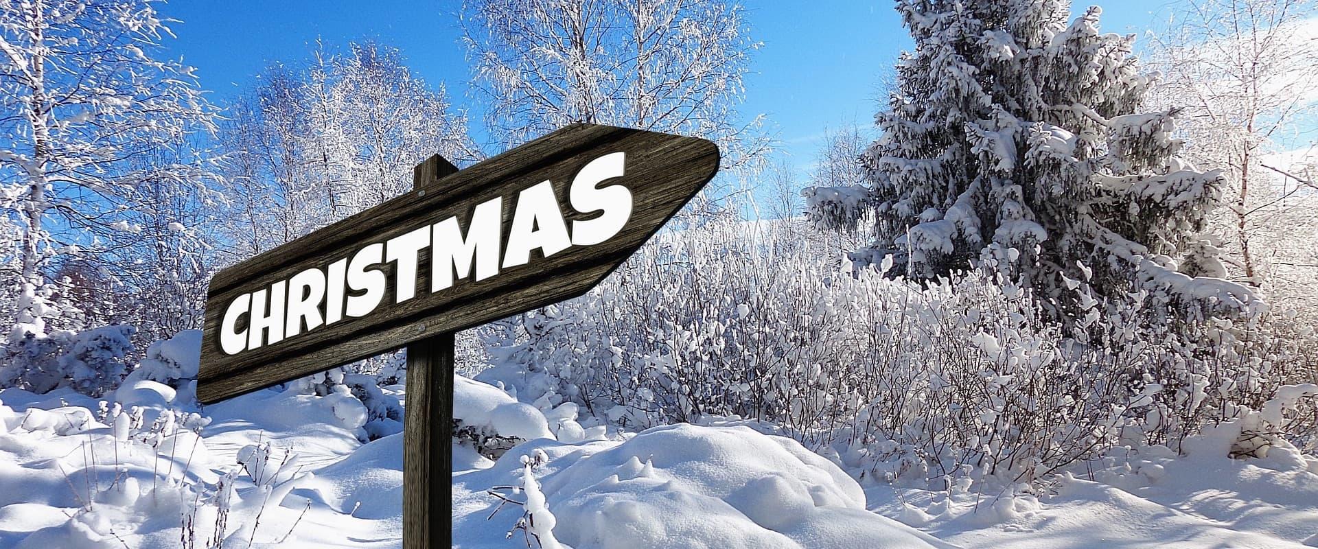 Weiße Weihnachten Schneelandschaft