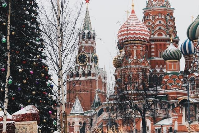 Moskau zur Weihnachtszeit