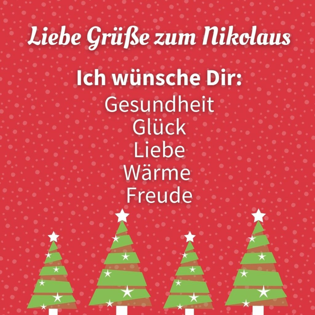 Liebe Grüße zum Nikolaus!